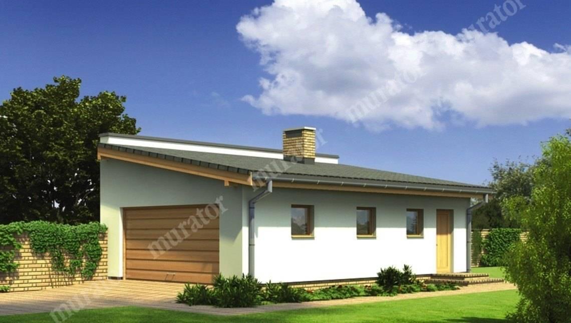 Проект гаража с односкатной крышей на 2 авто
