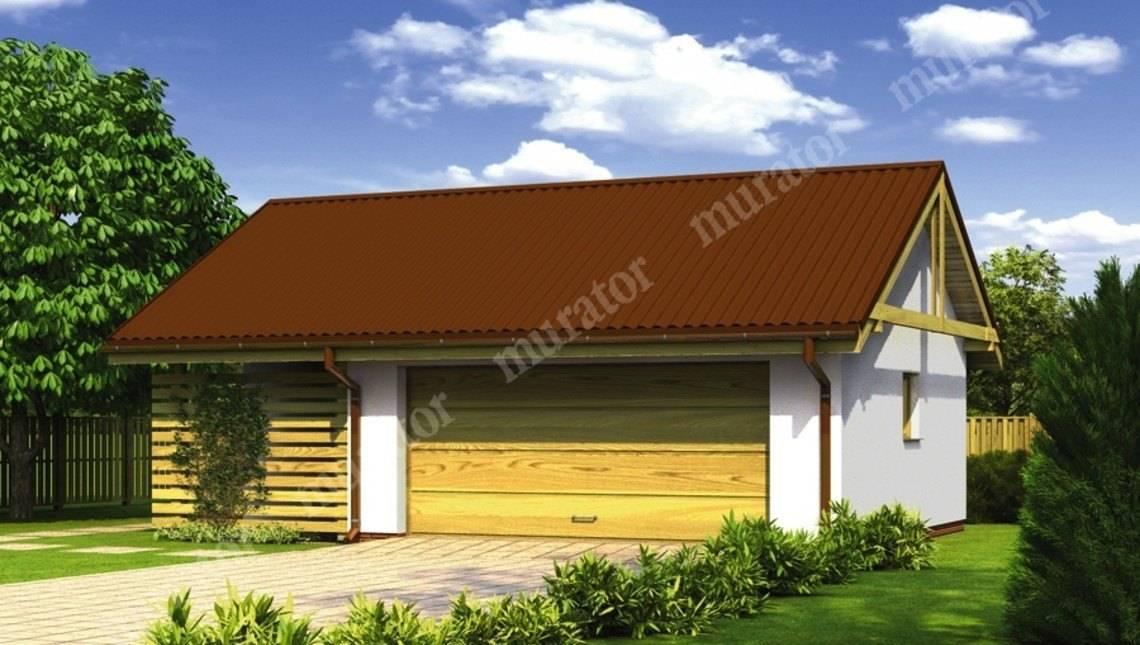Проект жизнерадостного гаража на 1 авто