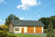 Проект просторного гаража с жилой комнатой