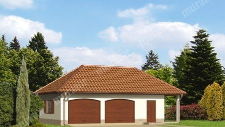 Проект красивого гаража на 2 автомобиля