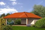 Проект гаража открытого типа