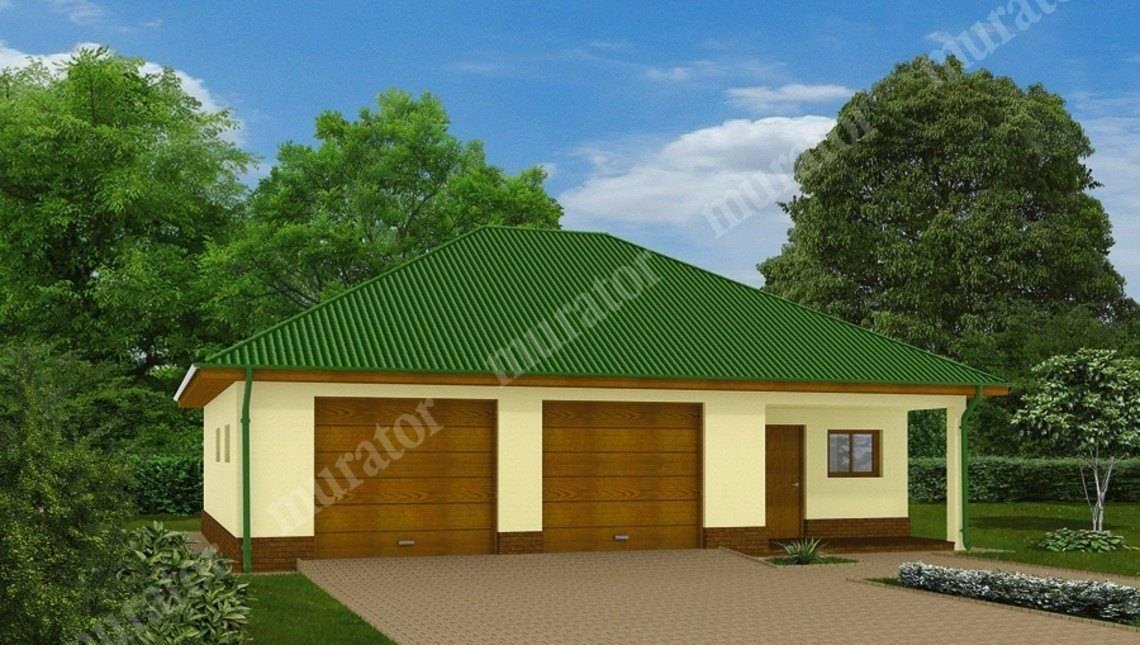 Проект просторного гаража на 2 авто с жилыми помещениями