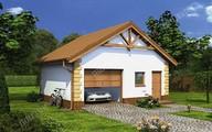 Проект красивого гаража на 1 автомобиль