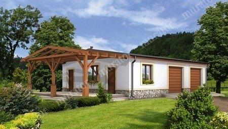 Проект гаража на 2 авто с жилыми помещениями