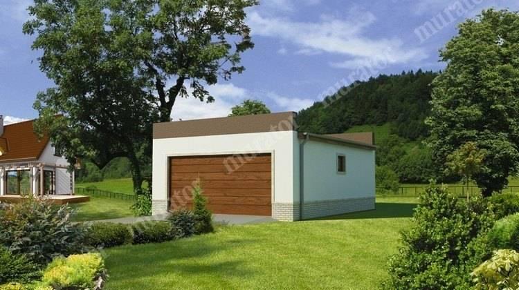 Проект гаража на 2 авто с плоской крышей