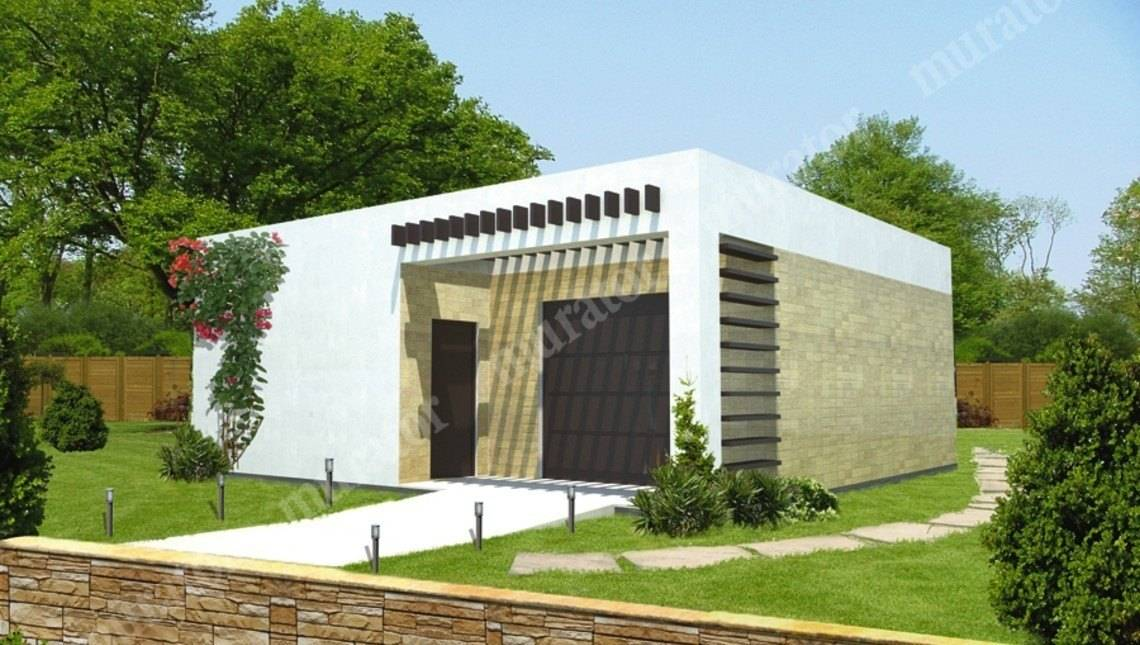 Проект красивого гаража с жилой комнатой