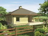 Проект светлого дома под крышей сложной формы