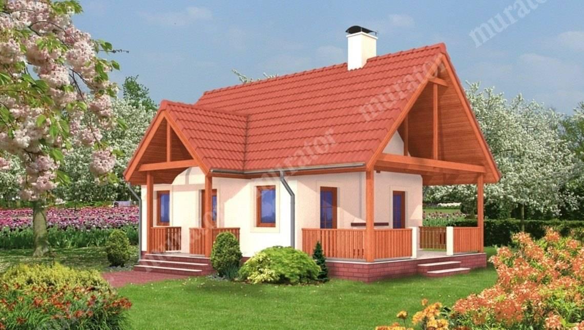 Проект небольшого дома с 2 спальнями