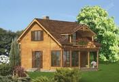 Проект красивого дома со ставнями