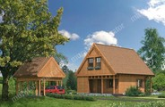Проект деревянного дома с большой террасой
