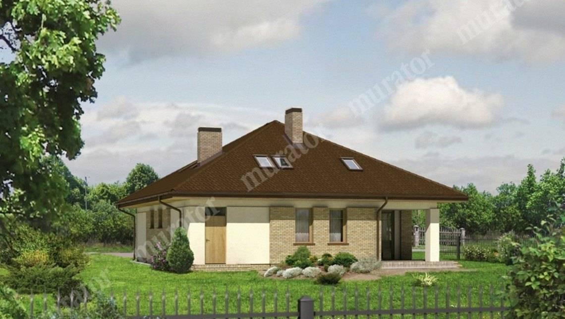 Проект интересного дома с гаражом на 2 авто