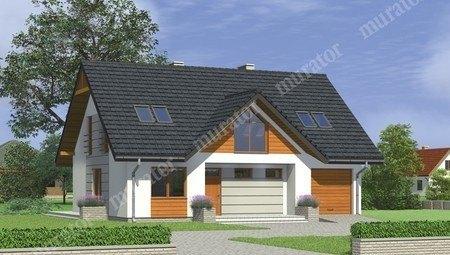 Проект двухэтажного жилого дома с гаражом