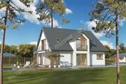 Проект двухэтажного дома необычной планировки