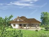 Проект красивого дома с двумя террасами