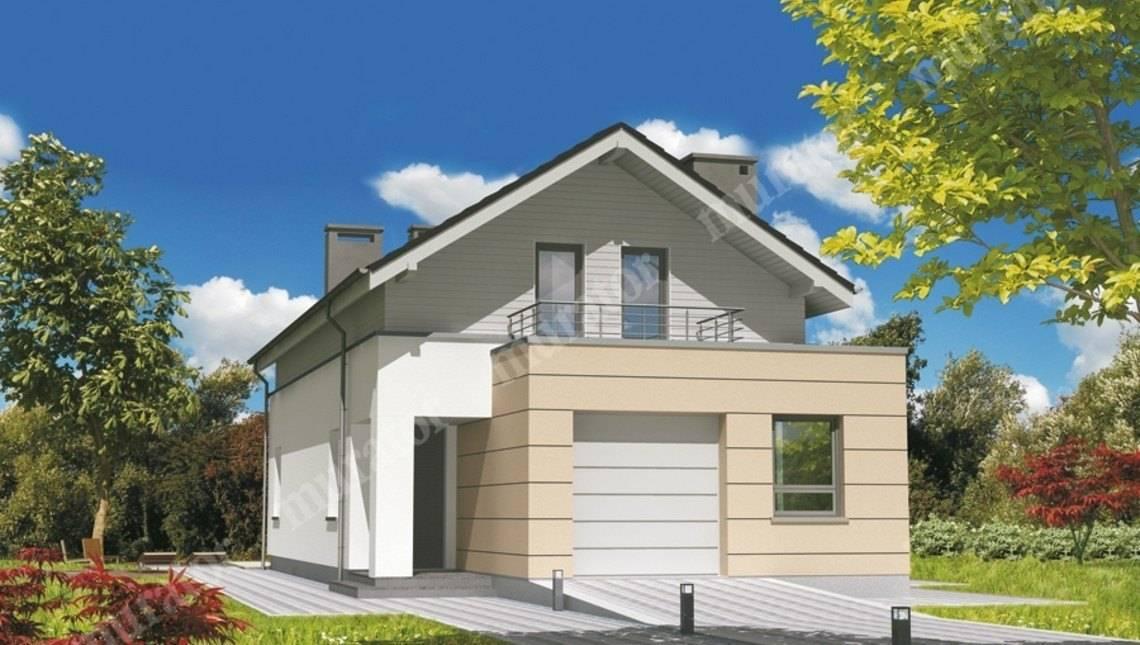 Проект стильного дома на 2 балкона