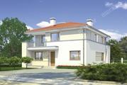 Проект гармоничного двухэтажного дома с балконами