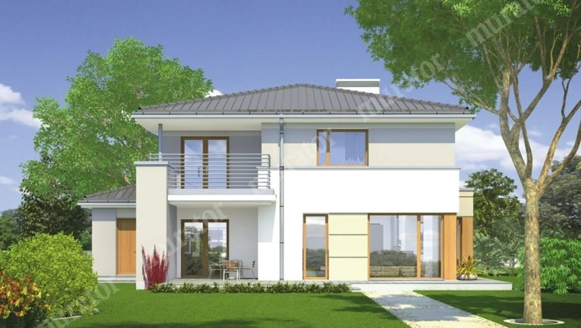 Проект стильного двухэтажного дома