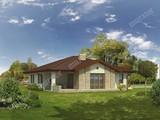 Проект просторного одноэтажного дома