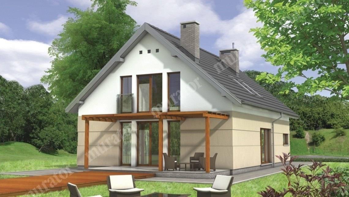 Проект стильного дома с двухскатной крышей