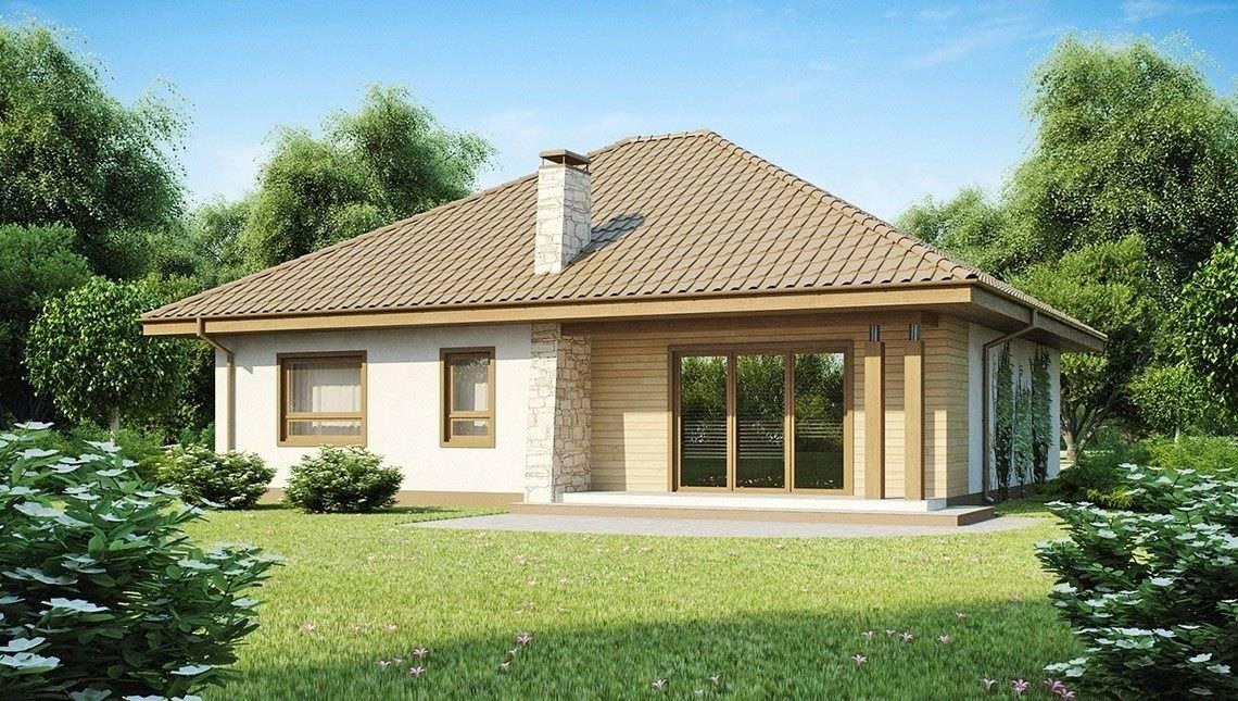 Проект большого одноэтажного дома с гаражом для двух авто