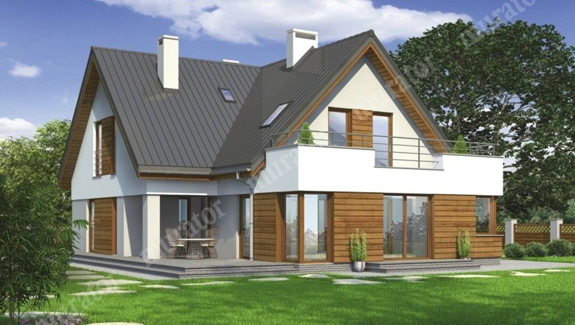 Проект стильного дома для большой семьи