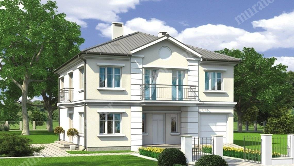 Проект современного особняка на два этажа