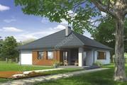 Одноэтажный дом с декоративными элементами из дерева