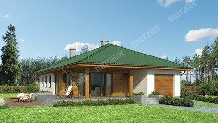 Проект одноэтажной усадьбы открытого типа