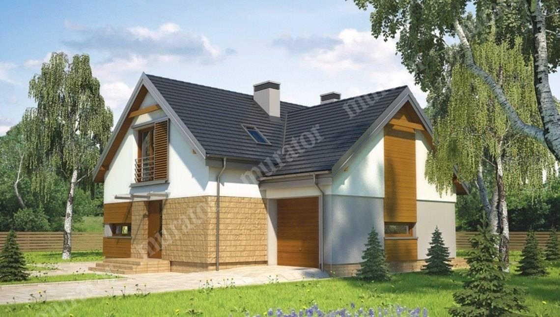 Проект жилого дома на два этажа