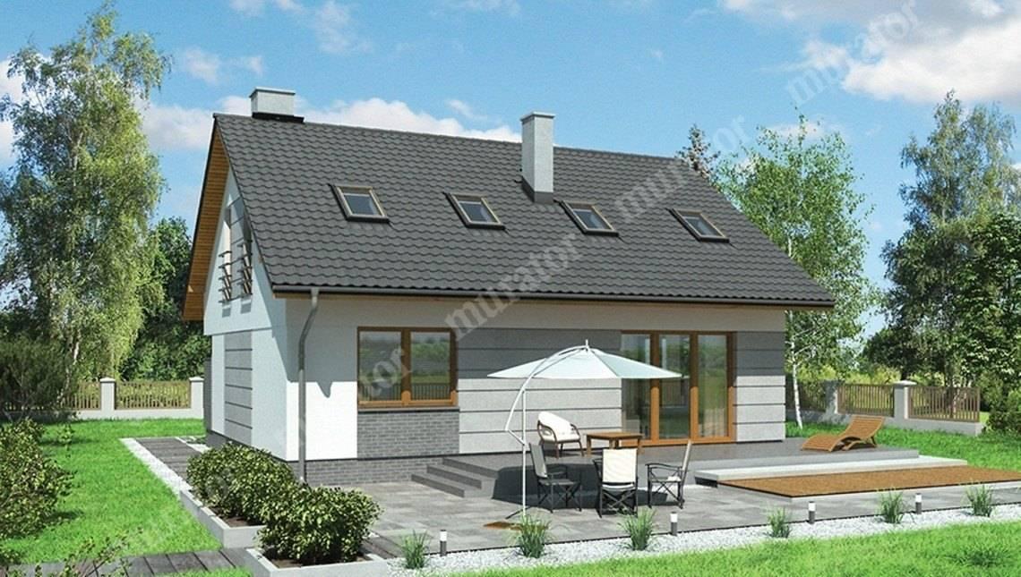 Проект двухэтажного дома квадратной формы