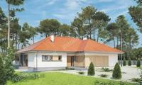 Проект одноэтажного дома в жизнерадостных тонах