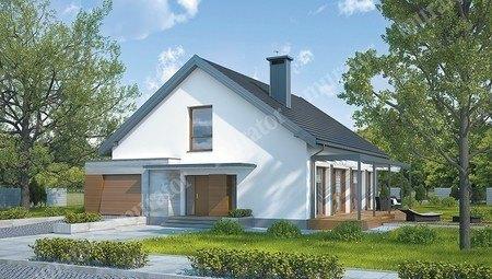 Проект открытого одноэтажного дома