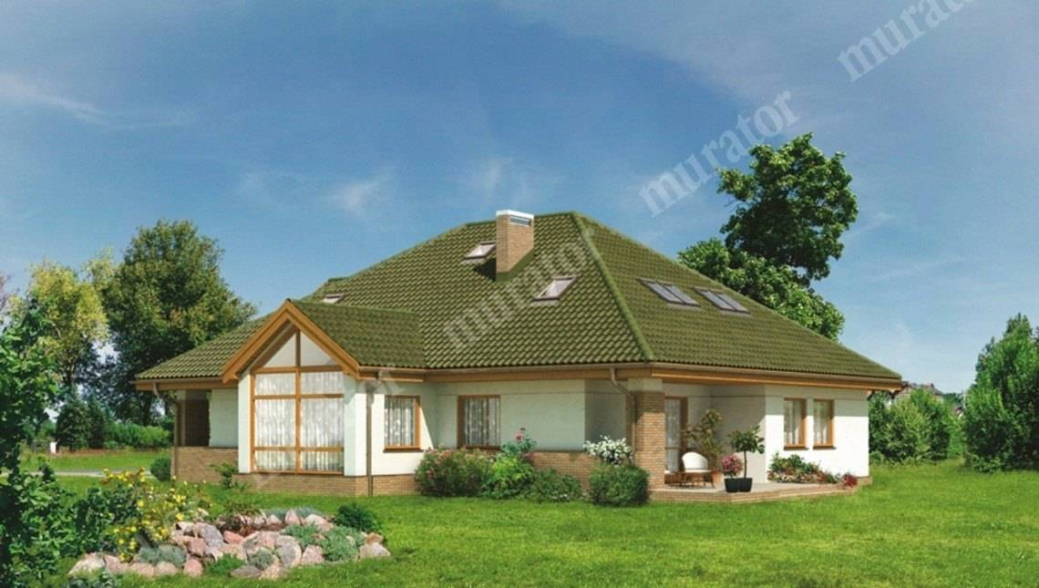 Проект двухэтажного дома в природных тонах