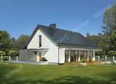 Проект красивого дома в бело-серой расцветке