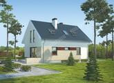 Проект двухэтажного дома с интересным кирпичным декором