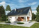 Проект двухэтажного дома с интересным декором