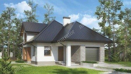 Проект красивого дома под сложной крышей