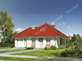 Проект жилого дома с мансардой и гаражом на 2 авто