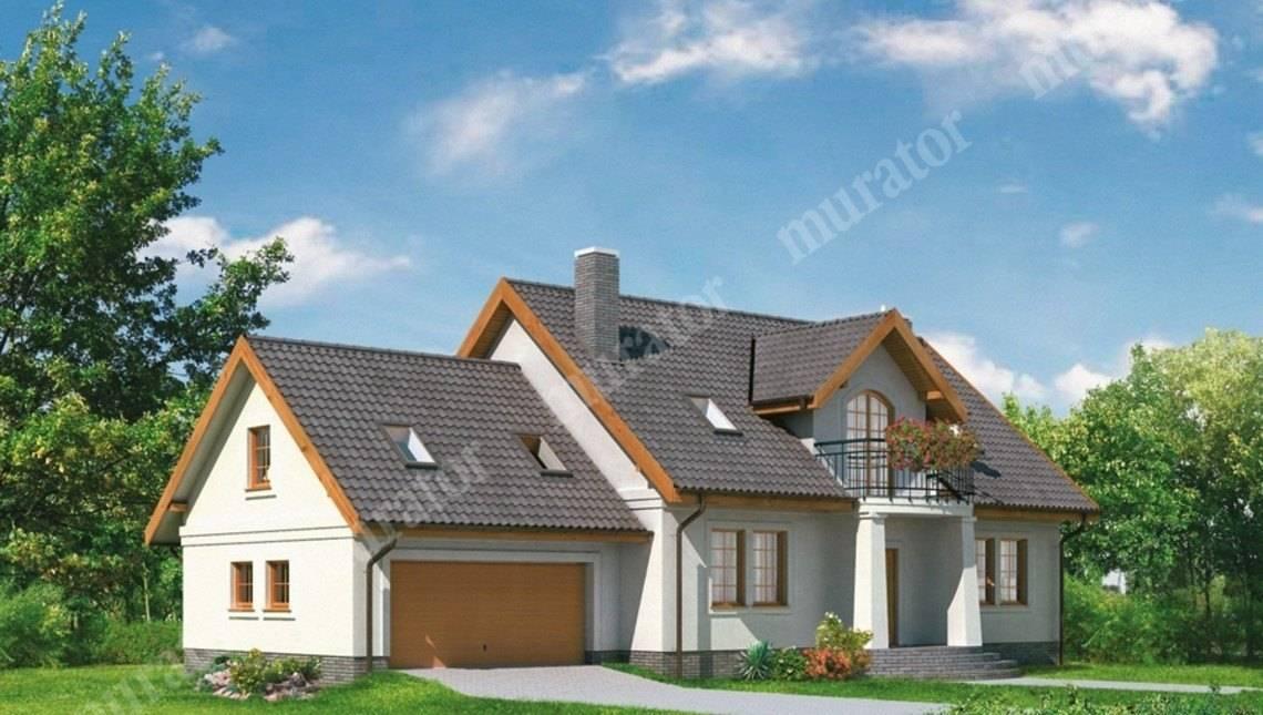 Проект двухэтажного дома в классическом стиле с гаражом