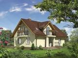 Проект двухэтажного дома с широким подъездом