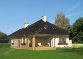 Проект привлекательного дома с кирпичным орнаментом