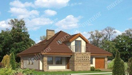 Проект двухэтажного жилого дома напоминающего замок