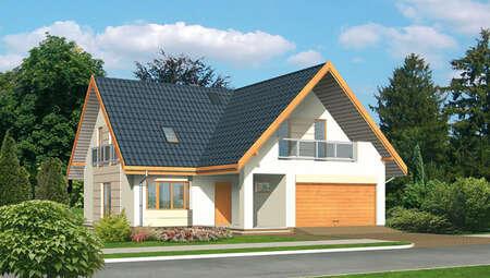 Проект привлекательного дома с гаражом на 2 авто
