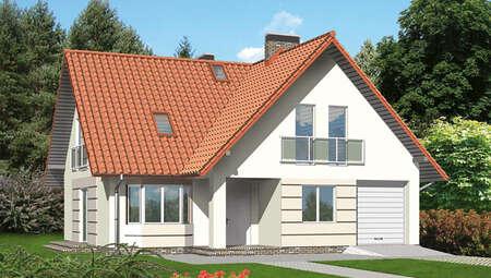 Проект стильного красочного дома