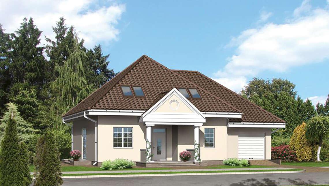 Проект дома в классическом стиле с колоннами