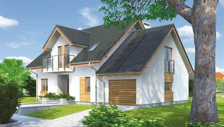 Проект роскошного дома на два этажа