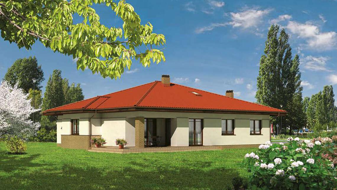 Проект одноэтажного дома на 130 м2