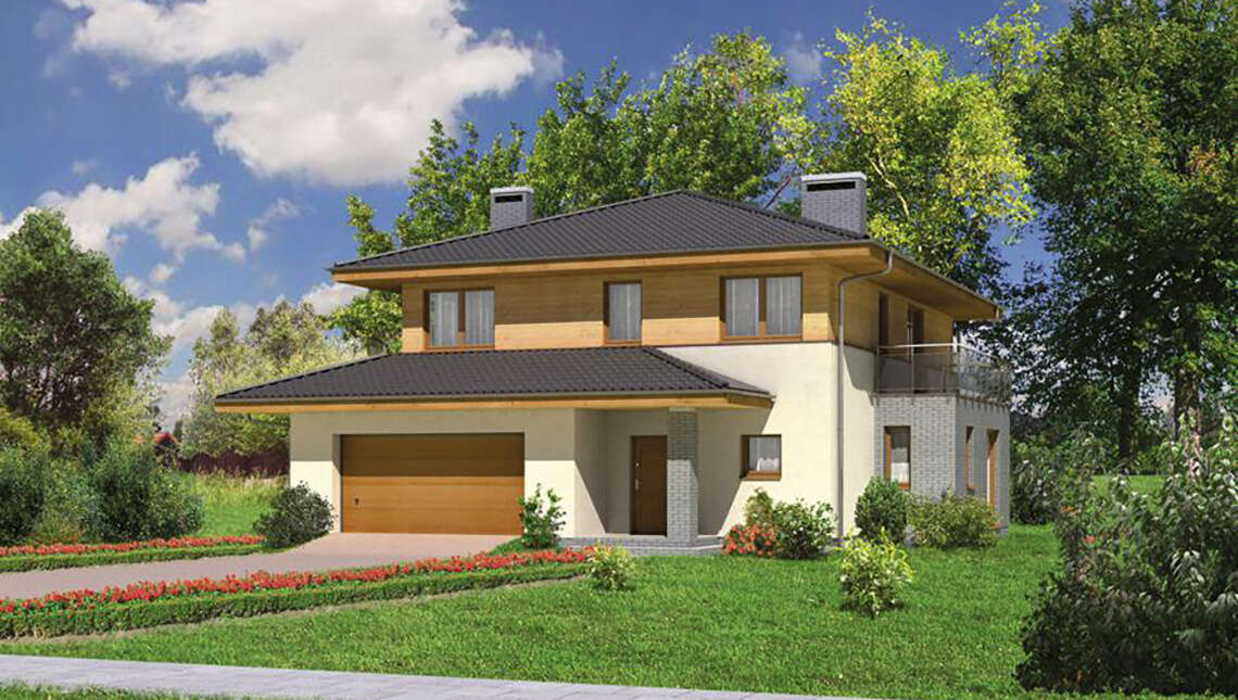 Проект неповторимого дома с гаражом на 2 авто