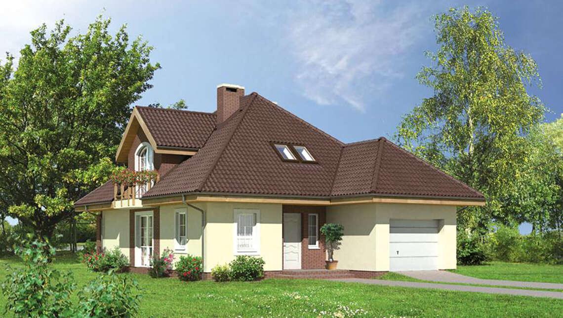 Проект чудесного дома с колоннами