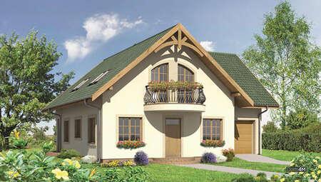Проект двухэтажного дома с полукруглыми террасами